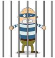 Bad guy in Jail vector image