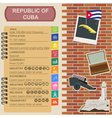 Cuba infographics statistical data sights vector image