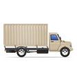 cargo truck 07 vector image