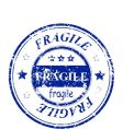 Fragile stamp vector image vector image