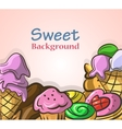 Abstract background with sweets vector image vector image