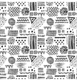 Abstract black and white seamless pattern with vector image