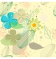Abstract flower seamless background vector image