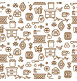 apiary outline icon seamless pattern vector image