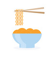 asia noodle bowl food vector image