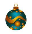 Christmas blue ball vector image