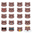 cute emoticons set cute emoticons set vector image