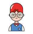 nice boy with hairstyle and uniform clothes vector image