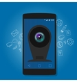 online mobile phone camera webcam security vector image