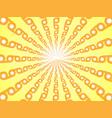 rays of orange yellow abstract sun burst vector image