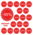 set of discount tags vector image