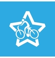 athlete medal cyclist icon graphic vector image