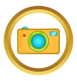 Yellow camera icon vector image
