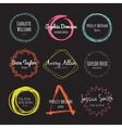 Handdrawn Logo Collection vector image vector image