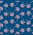 rowan berry seamless pattern on blue vector image