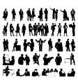 businessmen silhouettes vector image