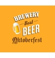 Brewery and beer banner vector image vector image