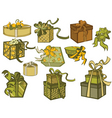 gift collection vector image vector image