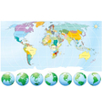 World map vector