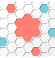 Hexagon background vector image