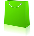 Green shopping bag vector image