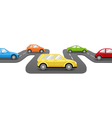 Cars on Road Perspective Transport Background vector image