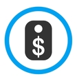Price Tag Rounded Icon vector image