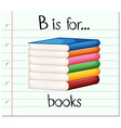 Flashcard letter B is for books vector image