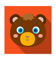 bear muzzle icon in flat style isolated on white vector image