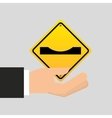 road sign warning icon vector image