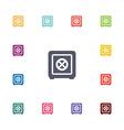 safe flat icons set vector image