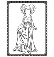 Medieval costume vector image vector image