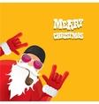 biker santa claus with smoking pipe vector image