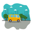 vehicles and city design vector image