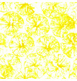 lemon stamp seamless background lemon juice vector image