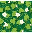 seamless morning-glory white flower background vector image vector image