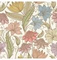 Vintage seamless floral background vector image