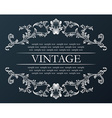 Vintage frame Royal retro ornament decor black vector image