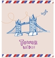 Tower bridge- symbol of London vector image vector image