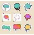 Speech bubbles set Hand drawn and isolated vector image vector image