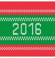 Christmas background 2016 style knitted ornament vector image
