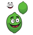 Fresh tangy green cartoon lime or lemon vector image