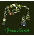 Green Earth environmental bio fuel poster vector image