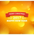 Merry Christmas and Happy New Year 2017 vector image