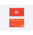object business card vector image