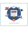Online education and courses vector image