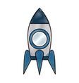 rocket start up symbol vector image