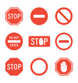 stop signs set vector image