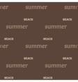 Summer text seamless pattern vector image