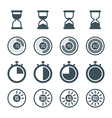 timer icon set vector image
